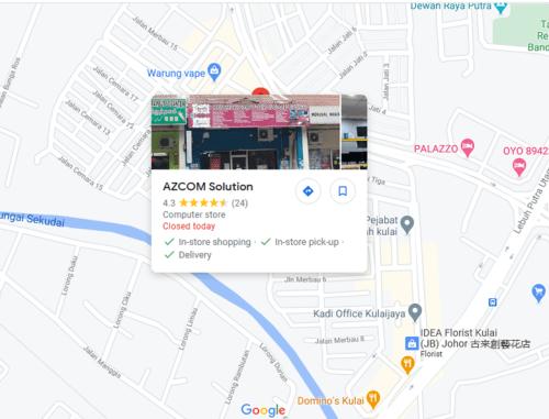 Google Maps Kedai Komputer Azcom